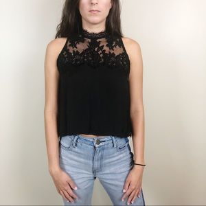 Free People Tied to You Lace Back Camisole